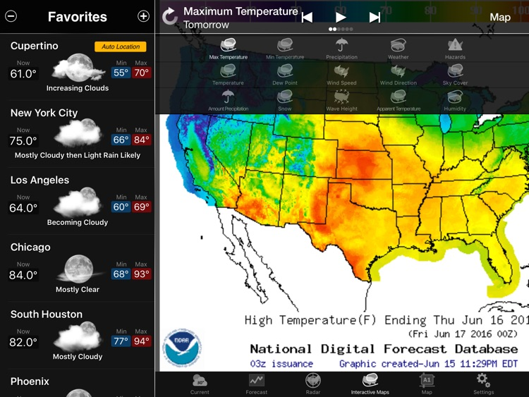 NOAA Weather Lite for iPad screenshot-4
