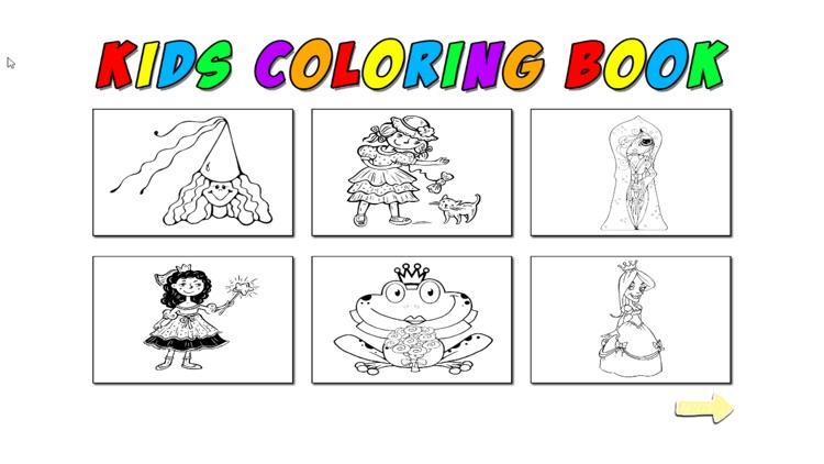 Kids Coloring Princess