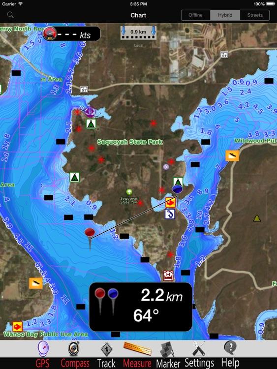Oklahoma lakes GPS Charts Pro