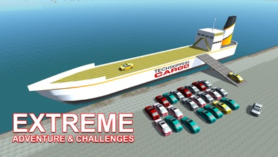 De carga transporte de automoviles nave - conducir camiones y navegar en barco grande en este juego de simulaciónCaptura de pantalla de3