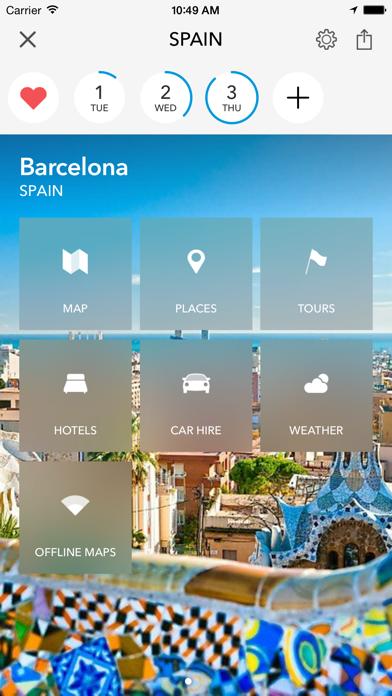 Screenshot of Trip planner Spagna & Portogallo di Tripomatic, guide turistiche e mappe offline1