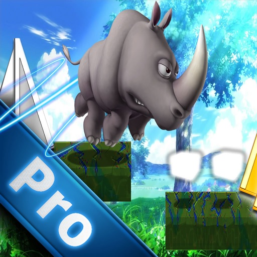 A Platform Animal Jump Pro - Rino Jumping To Avoid Sharp Obstacles