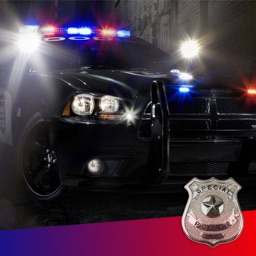 Police Siren Sound ~ The best emergency radio car sounds with reb/blue strobe (FREE)