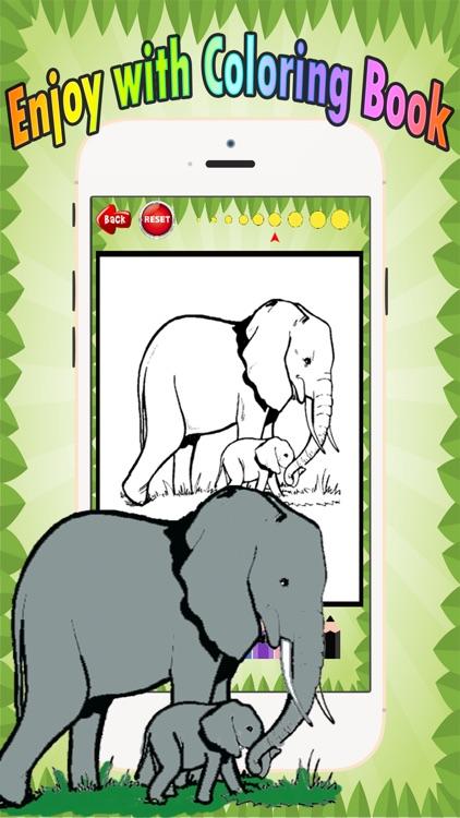 Wild animals Coloring Book: These cute zoo animal coloring pages provide learning skill games free for children and toddler any age screenshot-3