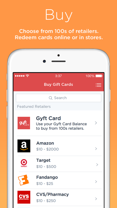 Gyft - Mobile Gift Card Wallet Screenshot