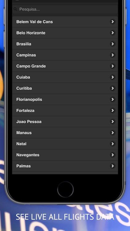 Air BR : Live flight Status & Radar for Avianca Brasil, TAM Linhas and GOL Airlines screenshot-3