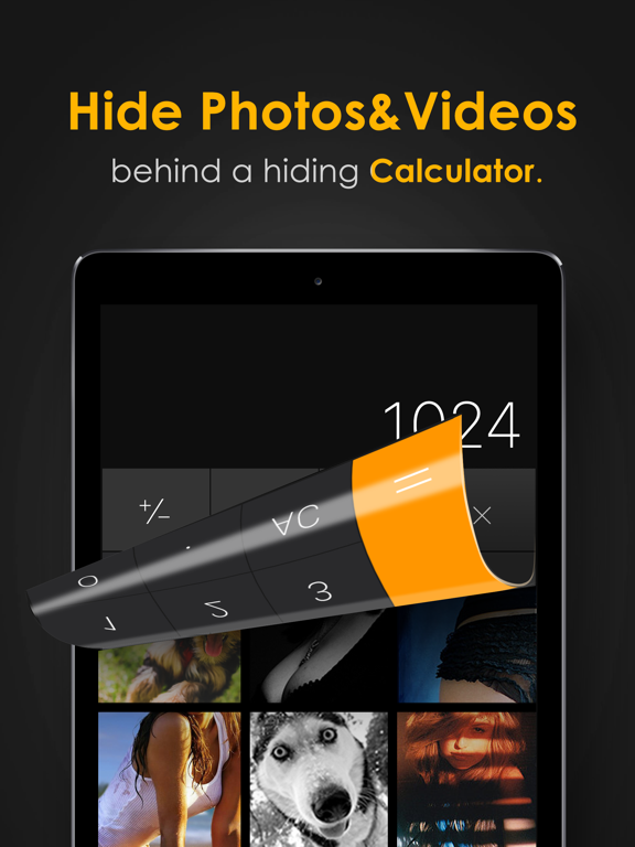 iPad Image of Secret Calculator Photo Album
