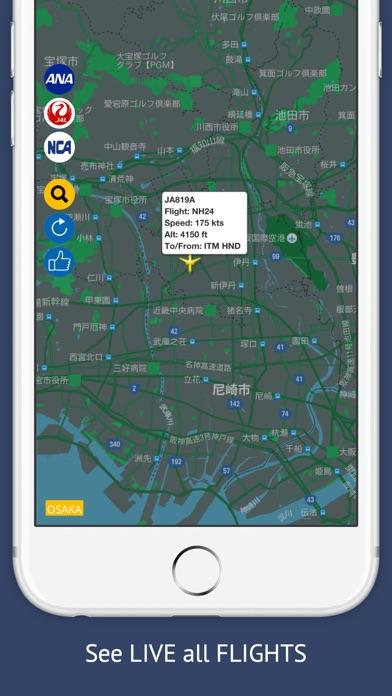 Screenshot of JP Tracker Free : Live Flight Tracking & Status3