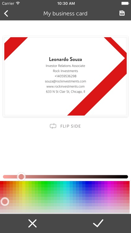 Benbo - Business card creator and scanner screenshot-4