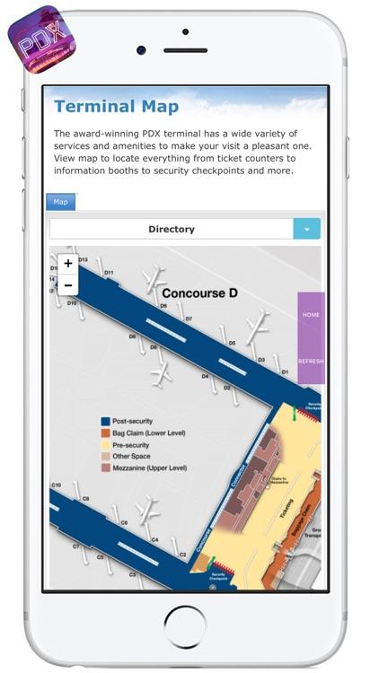 PDX AIRPORT - Realtime, Map, More - PORTLAND INTERNATIONAL AIRPORT screenshot-3