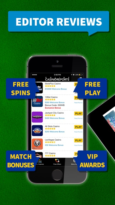 Play Casino Games With Free Spins at Top Casinos 2.6 IOS