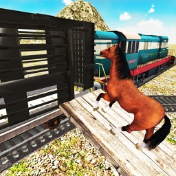 Transporter Train Farm Animals - Cattle Transport Tycoon Train Driving Game