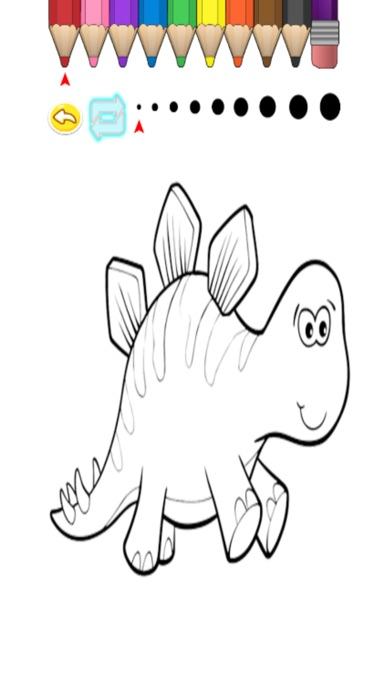 子供のぬりえ かわいい漫画の恐竜のヒノキの画像集 Iphoneアプリ