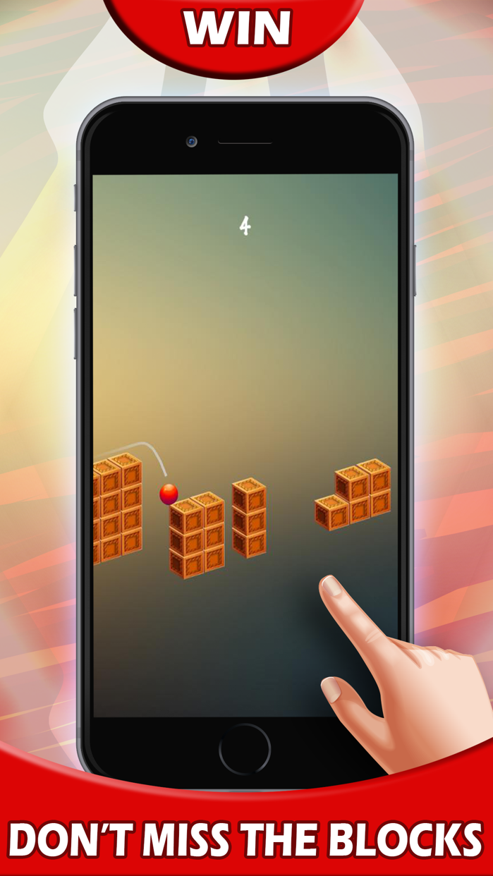 Red Jumpy Bounce King Ball - Jump Game to pass time and kill time in toilet Screenshot
