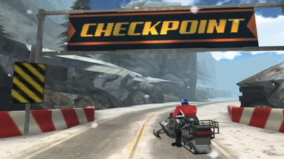 Arctic Snowmobile Racing - 3D eXtreme Winter Ice Trails Driving Edition Free screenshot one