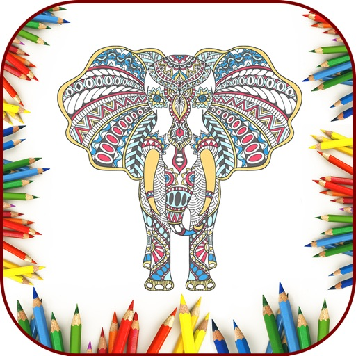 Coloring Book Art Stress Relief For Adults Color Therapy Pages