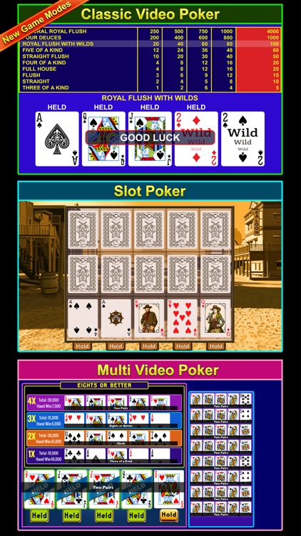 Video Poker  - FREE Multihand Casino Free Video Poker Deluxe Games