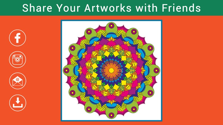 Colorment: Free Stress Relieving Mandala Coloring Books screenshot-4