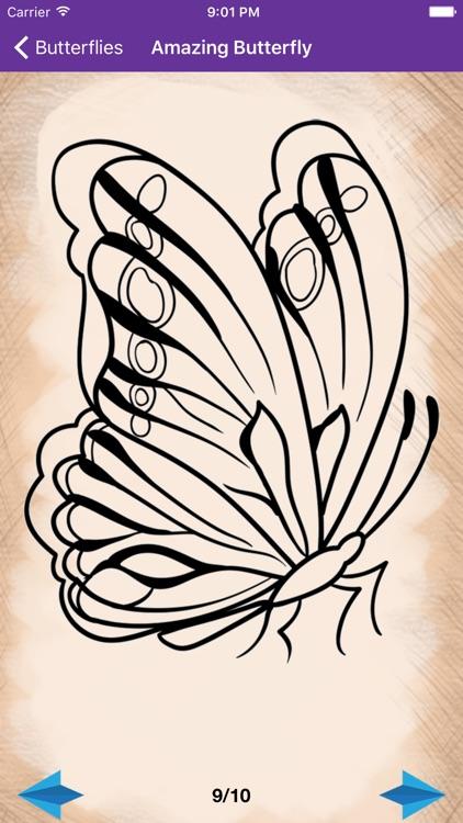 Artist Violet - How to draw Butterflies screenshot-3
