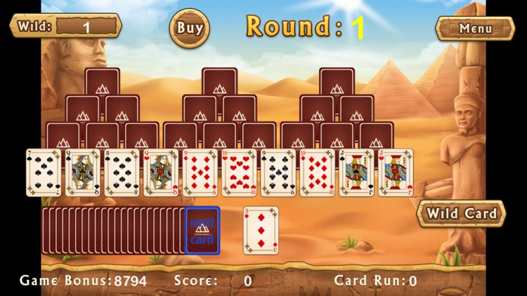 Pyramid Solitaire Egypt. Best Egypt Solitaire Game.