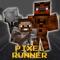 Pixel Runner - 3D Mini Run Game Slenderman edition