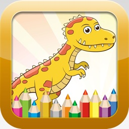 Dinosaur Coloring Book - Educational Coloring Games Free ! For kids and Toddlers