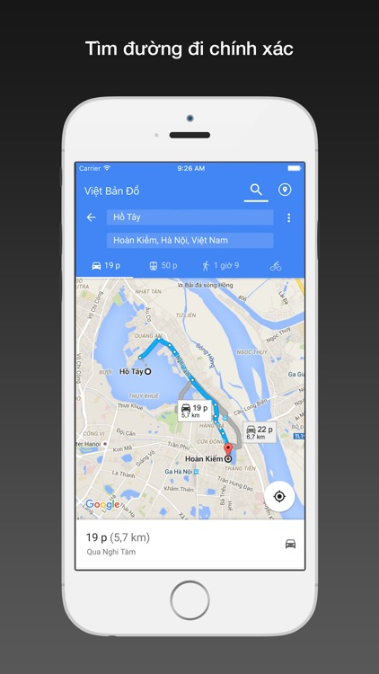 Việt bản đồ for Google Maps Pro