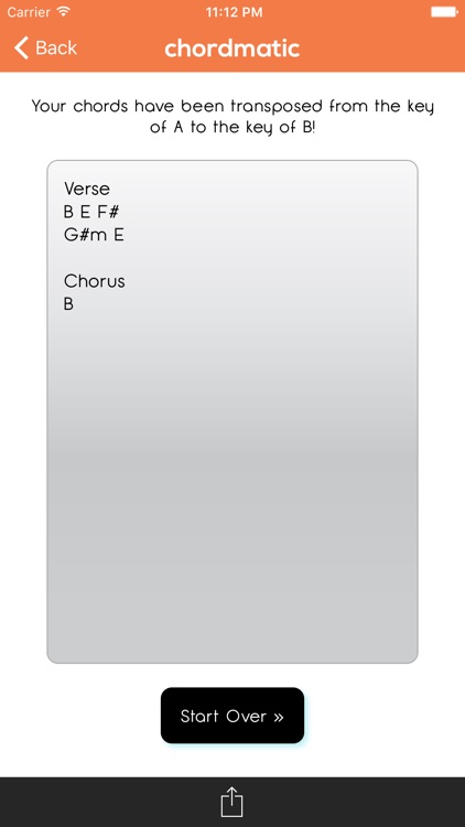 chordmatic - chord transposer to transpose chords on your phone! screenshot-3