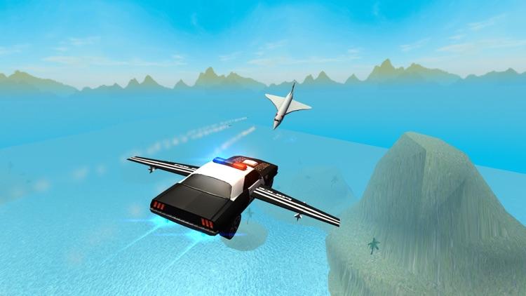 Flying Police Car Driving Simulator Free: Criminal Craft Chase screenshot-0