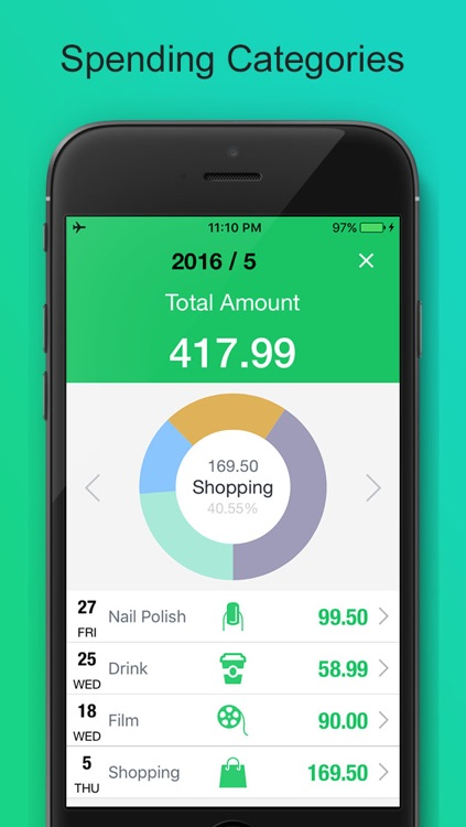 Money Monitor SpendNext - Spending Tracker, Monthly Expense Budget Planner