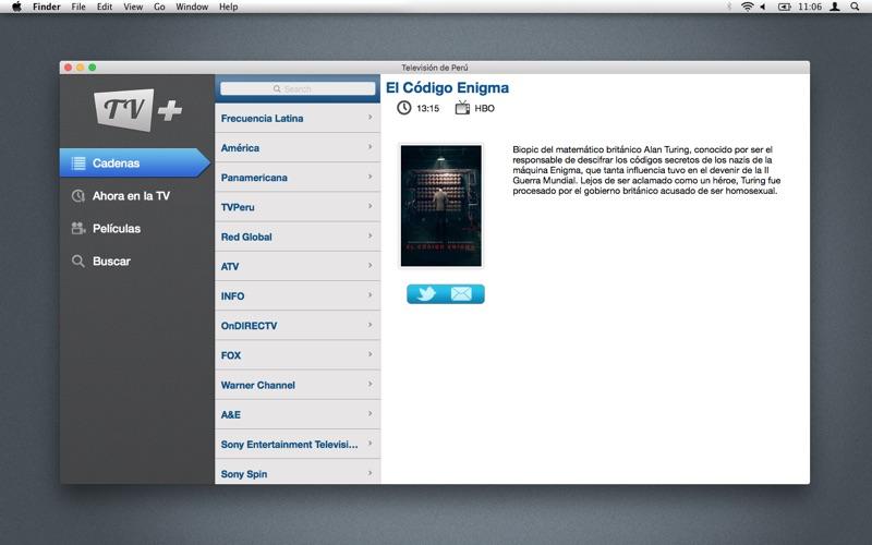 Televisión de Perú скриншот программы 2