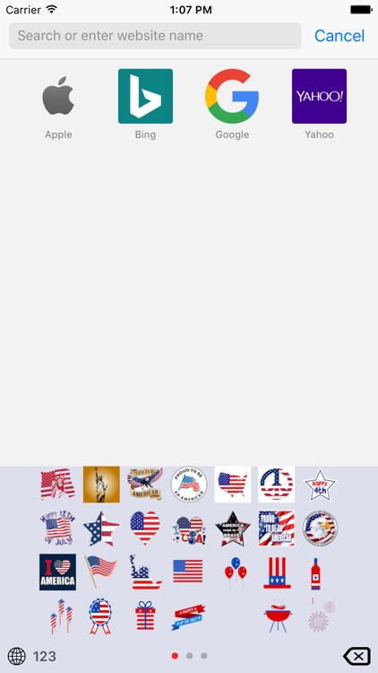 4th of July Emoji Keyboard