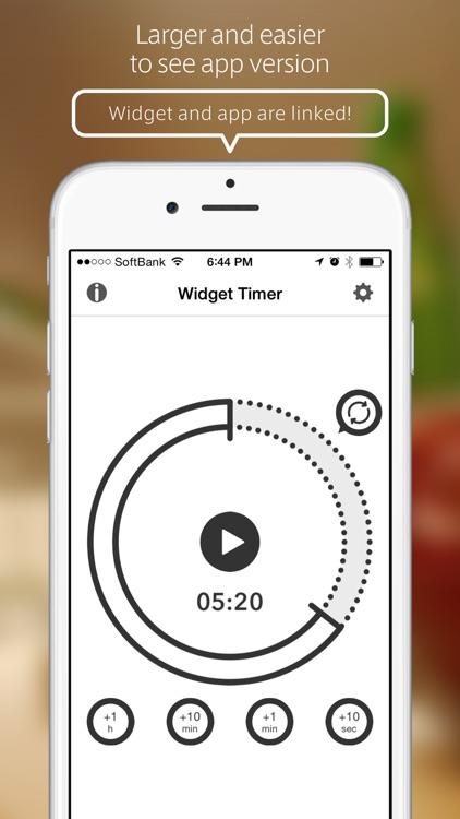 Widget Timer - Simple Kitchen Timer for Notification Center screenshot-3