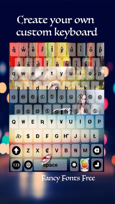 Fancy fonts art keyboard theme by Tarika Sultana (iOS, United
