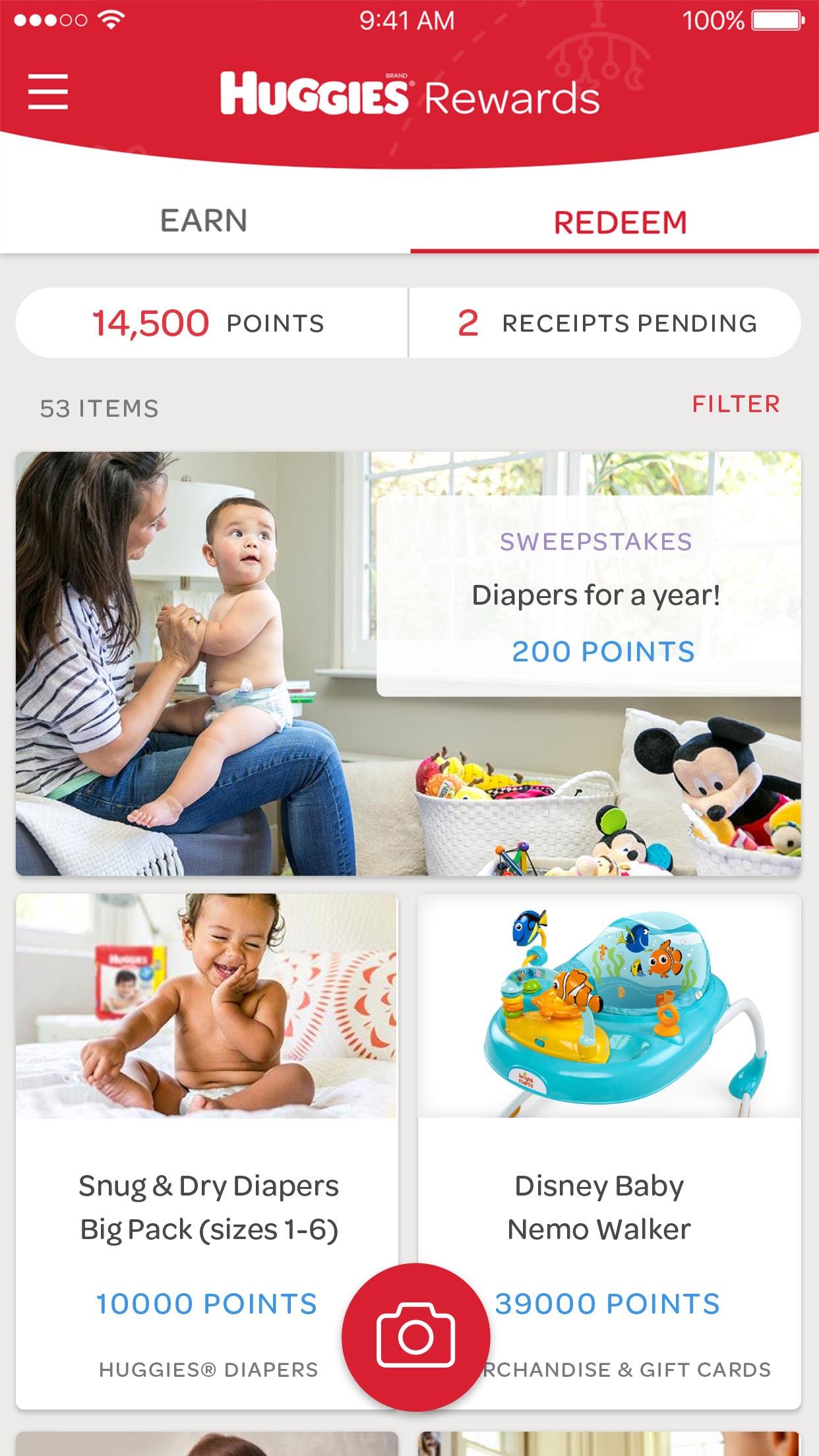 Huggies® Rewards App Screenshot