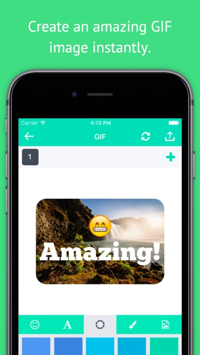 GIF Maker - Create GIF, Moving Pictures, GIF Animation and Share GIF to Your Friends screenshot one