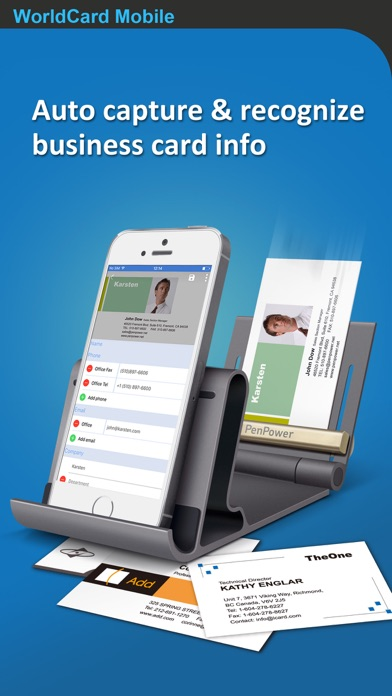 WorldCard Mobile - business card reader & business card scanner Screenshot 1