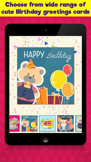 Happy birthday cards greetings for kids on the app store iphone ipad bookmarktalkfo Image collections
