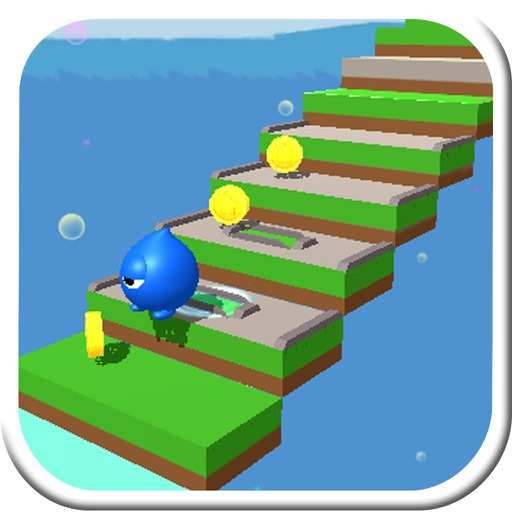 Dropping Water: Stairway of block cube not dropple iOS App