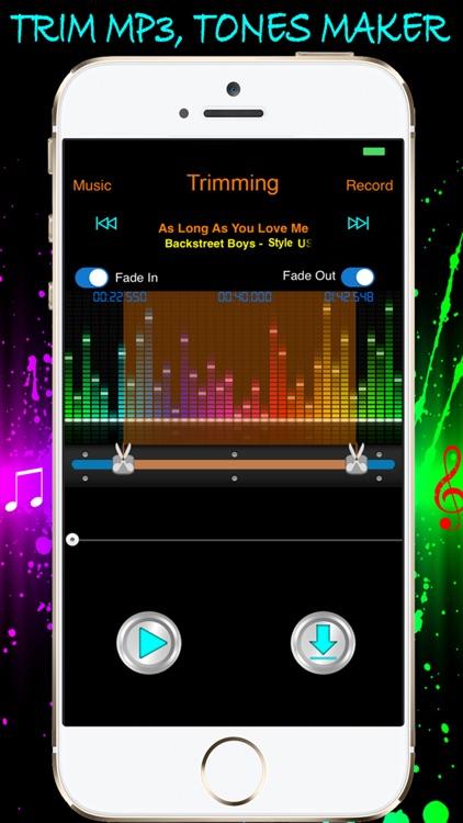 Music Cutter - Audio Trimmer, Voice Recorder & Ringtones Maker Unlimited screenshot-3