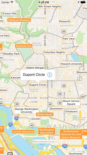 Washington DC Tourist Map on the App Store