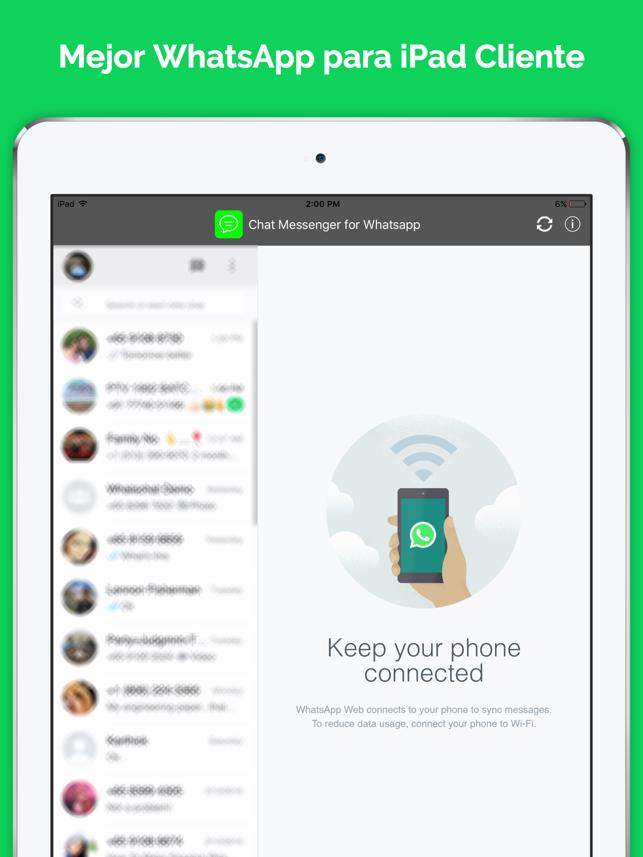 Messenger para whatsapp ipad chat versi n gratis en app for App para disenar muebles ipad