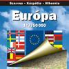 Europa. Politische und Straßenkarte.