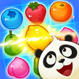 Panda Juice - matching 3 fruit land puzzle adventure