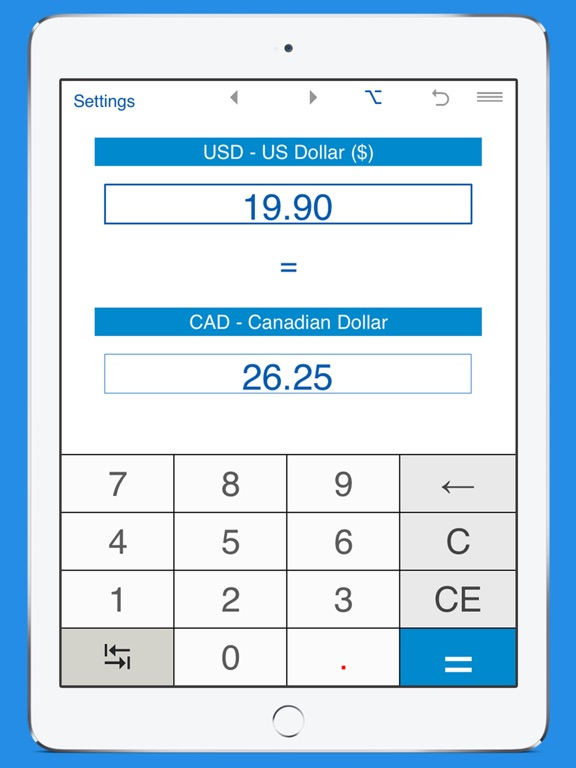 Screenshot 1 For Us Dollars To Canadian Currency Converter
