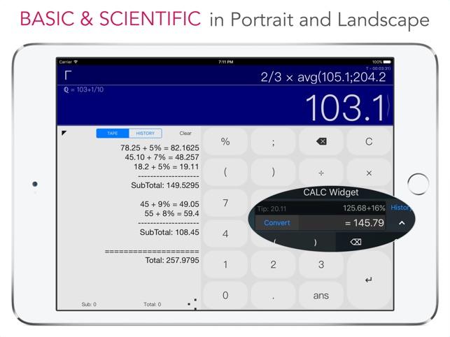 CALC Swift Screenshot