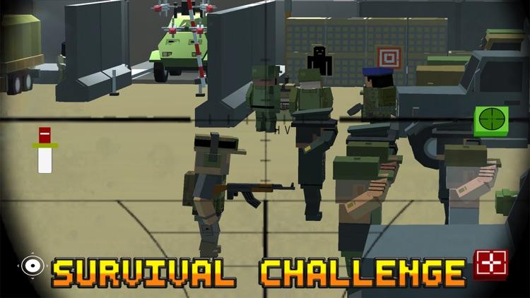 Block Battles City War : Pixel Cops Gun craft in robbers world Game screenshot-4