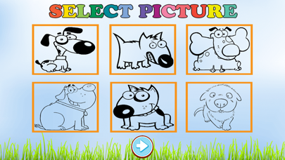 Free Coloring Book Game For Kids - Play Painting Cute Dog screenshot two
