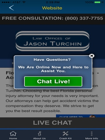 Screenshot of My Attorney App