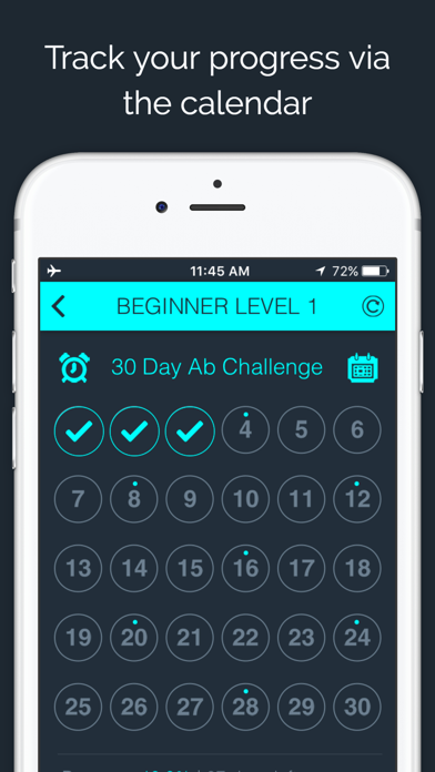 30 Day Ab Challenge FREE screenshot